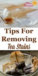 Remove A Tea Stain