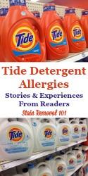 Tide Detergent Allergies