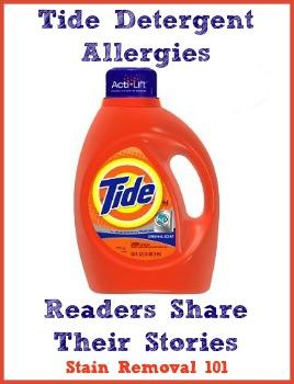 Tide Detergent Allergies Symptoms Amp Experiences
