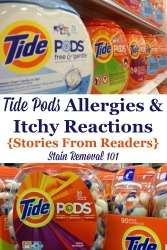 Tide Pods Allergies