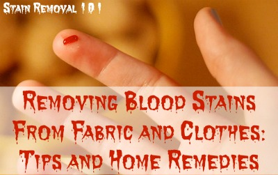 Tips For Removing Blood Stains From Fabric Clothing