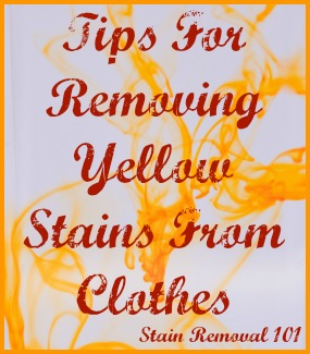 Removing yellow stains from clothing tips from readers for Remove yellow stains from white shirts
