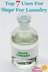 Uses For Vinegar For Laundry