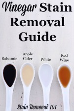 Vinegar Stain Removal Guide