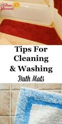 Cleaning & Washing Bath Mats