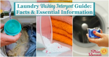 Laundry washing detergent guide