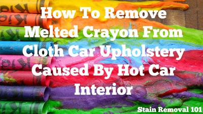 how to remove crayon stain using wd 40