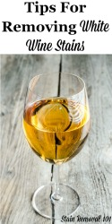 Removing White Wine Stains