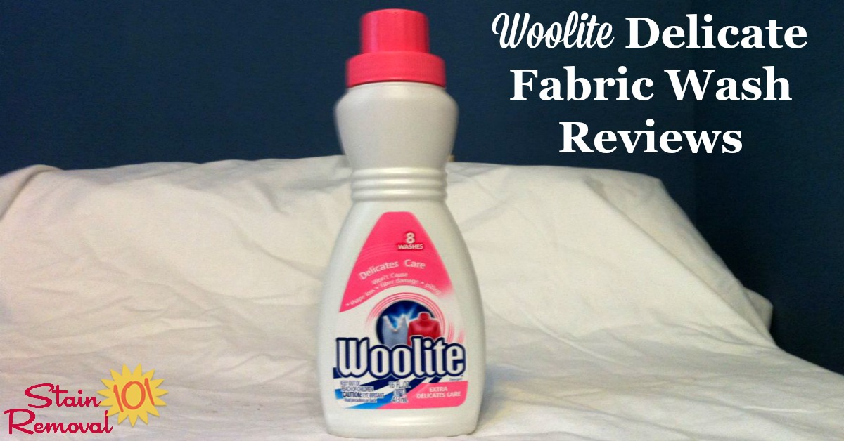 Woolite delicate fabric wash reviews from readers of Stain Removal 101, sharing both their positive and negative experiences with this product, including how it works for washing delicate clothing, allergic reactions and more {on Stain Removal 101}