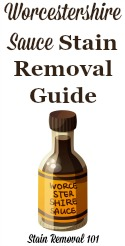 Worcestershire Sauce Stain Removal Guide