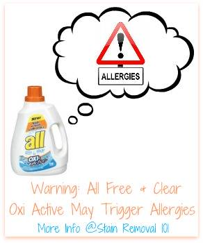 All Free And Clear Oxi Active Detergent Reviews: Causes