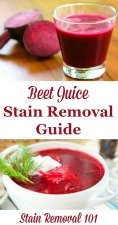 Beet Juice Stains