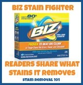 BIZ stain fighter uses