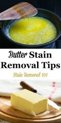 Butter Removal Stain Tips