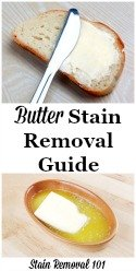 Butter Stain Removal Guide