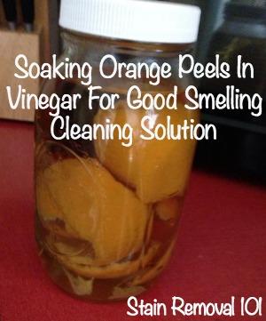 soaking orange peels in vinegar