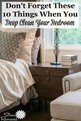 Deep Clean Your Bedroom