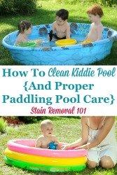 Clean Kiddie Pool