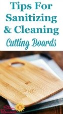 Sanitizing & Cleaning A Cutting Board