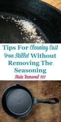 Cleaning Cast Iron Skillet With Salt