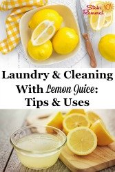 Cleaning With Lemon Juice