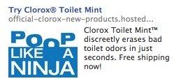 clorox toilet mint advertisement