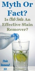 Is Club Soda An Effective Stain Remover?