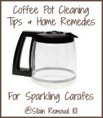 Coffee Pot Cleaning Tips