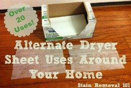 unusual uses for dryer sheets