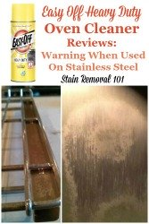 Easy Off Heavy Duty Oven Cleaner Caused Stainless Steel Discoloration
