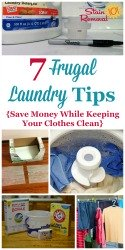 Frugal Laundry Tips