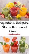 Remove Vegetable & Fruit Juice Stains