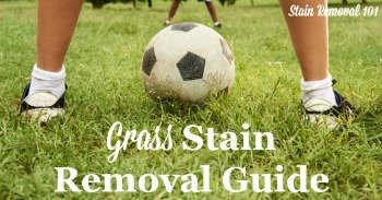 Grass stain removal guide