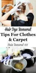 Hair Dye Removal Tips