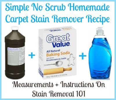 Homemade Carpet Stain Remover Recipe Simple Amp No Scrub
