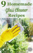 Homemade Glass Cleaner Recipes