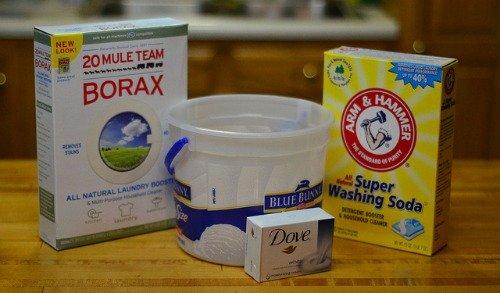 homemade powder laundry detergent ingredients
