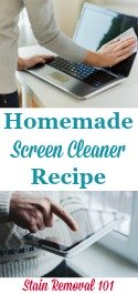 Homemade Screen Cleaner Spray Recipe