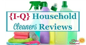 {I - Q} household cleaners reviews