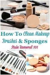 How To Clean Makeup Brushes & Sponges