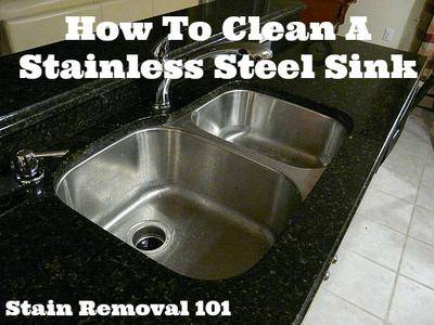 How To Clean Stainless Steel Sink   Tip From Reader