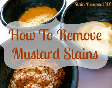 How To Remove Mustard Stain Home Remedies Amp Tips