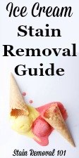 Ice Cream Stain Removal Guide