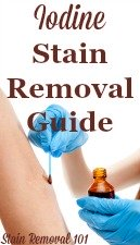 Iodine Stain Removal Guide