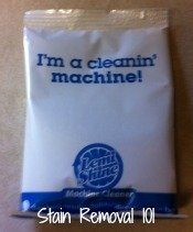 Lemi Shine machine cleaner packet