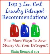 top 3 low cost laundry detergent recommendations