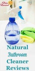 Natural Bathroom Cleaner Reviews