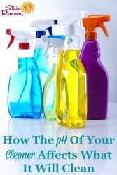 pH Of Your Cleaner Affects