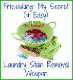 presoaking, my secret laundry stain removal weapon