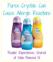 Purex Crystals can cause allergic reactions